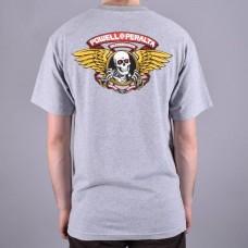 Camiseta Manga Corta Powell Peralta Winged Ripper Gris