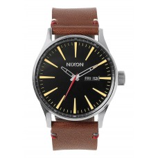 Reloj Nixon Sentry Leather Black / Brown