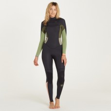 Traje Neopreno Billabong Synergy 4/3 Chest Zip Verde