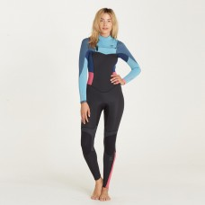 Traje Neopreno Billabong Synergy 4/3 Chest Zip Azul