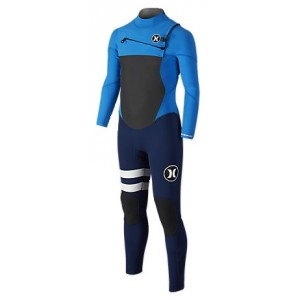 Traje Neopreno Hurley Fusion 3/2 Chest Zip Azul