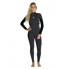 Traje Neopreno Rip Curl Dawn Patrol 4/3 Chest Zip Negro Gris