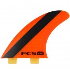 Quillas Surf FCS ARC PC Tri Fin Naranjas