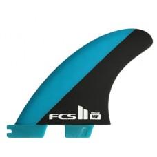 Quillas Surf FCS II Mick Fanning PC Tri Fin Azules Negras