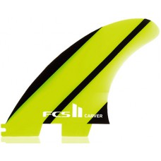 Quillas Surf FCS II Carver Neo Glass Tri Fin Verdes