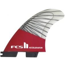 Quillas Surf FCS II Accelerator PC Carbon Grises Rojas