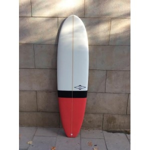 Tabla Surf Tactic Evolutiva 7,0 Negra Roja