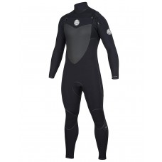 Traje de neopreno Rip Curl Flash Bomb plus Chest zip 4/3 negro