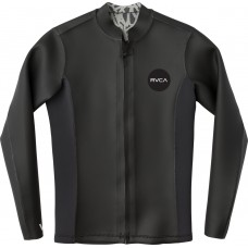 Lycra de Surf RVCA  FRONT ZIP SMOOTHIE WETSUIT JACKET  2mm negra