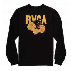 Sudadera RVCA Panther Roses Negra