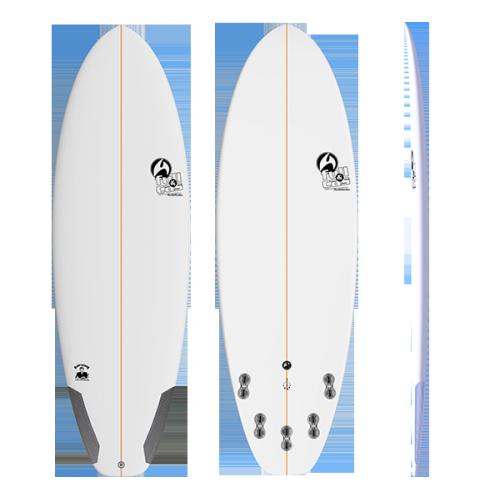 TABLA DE SURF FULL & CAS SLOPPY SECONDS 5'8