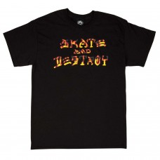 Camiseta Manga Corta Thrasher Skate And Destroy BBQ Negra