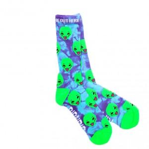 Calcetines Rip N Dip We Out Here Socks Purple Tie Dye