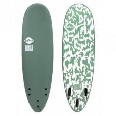 Tabla Surf Softech Bomber 6'4 Verde Blanca