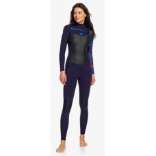 Traje Neopreno Roxy Syncro Plus 4'3 Chest Zip Azul 2020