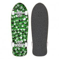 "Tabla Skate Completa Cruzade Skateboards Eyes 9.7"""