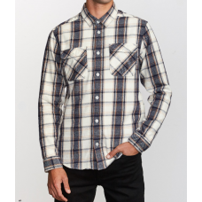 Camisa Manga Larga RVCA That'll Work Fall Blanca