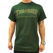 Camiseta Manga Corta Thrasher Davis Verde