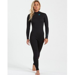 Traje Neopreno Billabong Synergy Back Zip 4/3 Black 2021