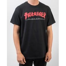 Camiseta Manga Corta Thrasher Godzilla Negra