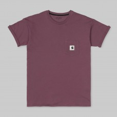 Camiseta Manga Corta Carhartt Carrie Pocket Dusty Fuschia