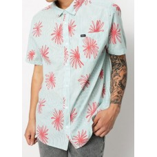 Camisa Manga Corta Rvca Whirls Coral