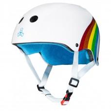 Casco Sakte Triple8...white Rainbow Talla SX