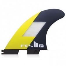 Quillas Surf FCS II Filipe Toledo PC Tri Fin Negras Amarillas