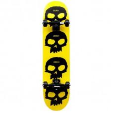 Tabla Skate Completa Zero Multi Skull Amarilla 7'6